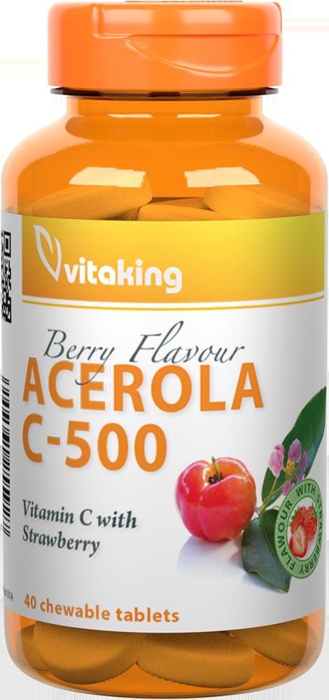VitaKing Acerola C-500 40 žvakaćih tableta
