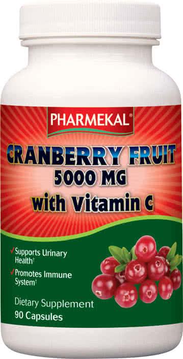 Pharmekal Cranberry friut with Vitamin C 90 kap.