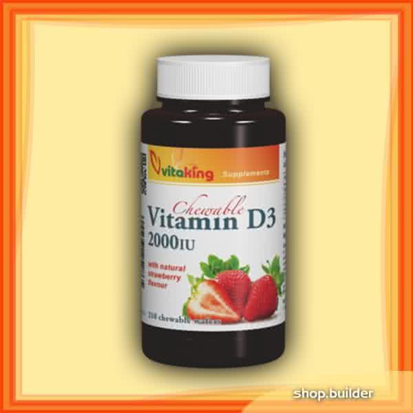 VitaKing D3 Vitamin 2000 210 žvakaćih tableta
