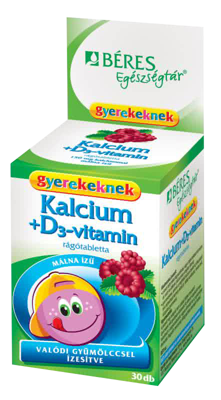 Beres Calcium + D3 for Kids 30 žvakaćih tableta