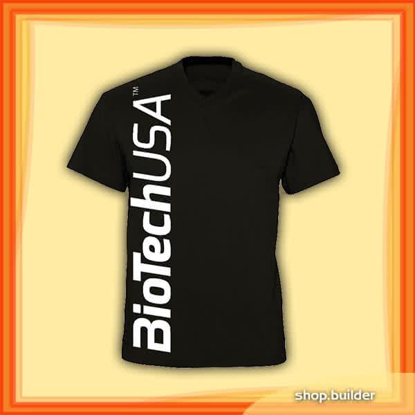 BioTech USA Crna muška majica s v-izrezom