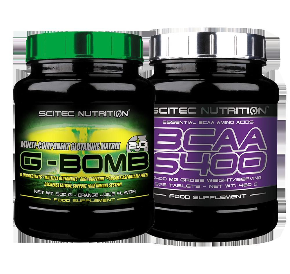 Scitec Nutrition G-Bomb 2.0 + BCAA 6400 set