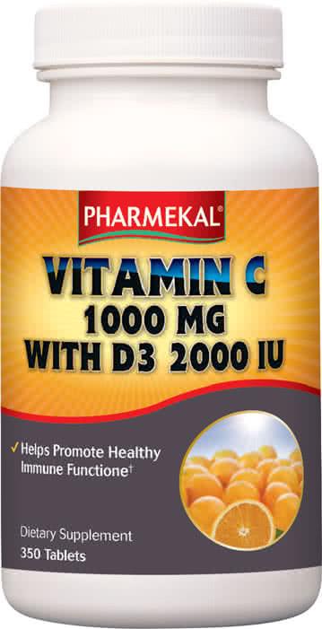 Pharmekal C-1000 mg + D3 2000 IU 350 tab.