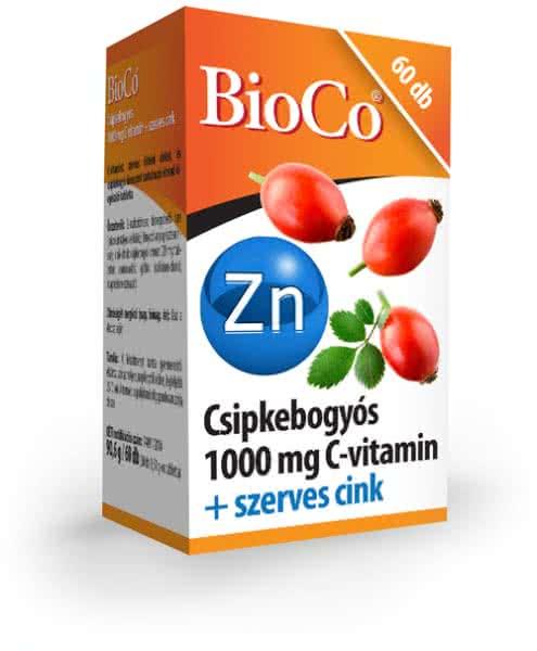BioCo Vitamin C + Rosehips + Zinc 60 tab.