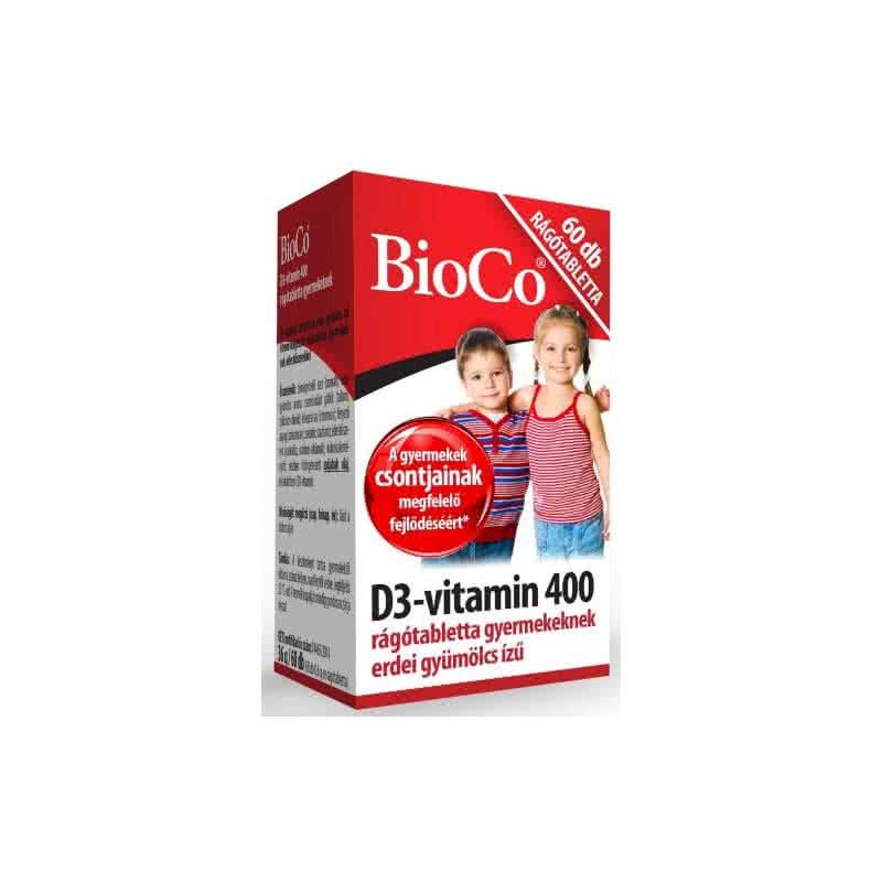 BioCo Vitamin D3 400 chewables for Kids 60 žvakaćih tableta