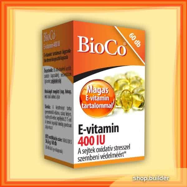 BioCo Vitamin E 400IU 60 kap.