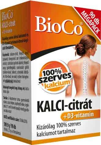 BioCo CALCI-citrate + Vitamin D3 90 tab.