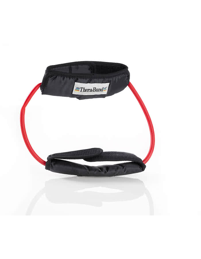 Thera Band Resistance Tubing, 12 Inch Loop With Padded Cuffs, medium