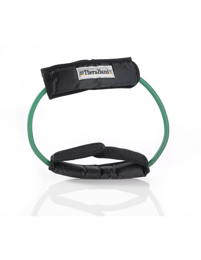 Thera Band Resistance Tubing, 12 Inch Loop With Padded Cuffs, strong