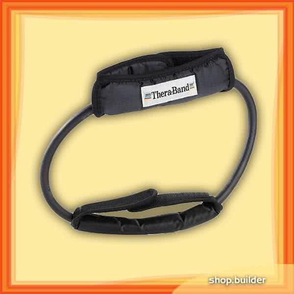 Thera Band Resistance Tubing, 12 Inch Loop With Padded Cuffs, super strong