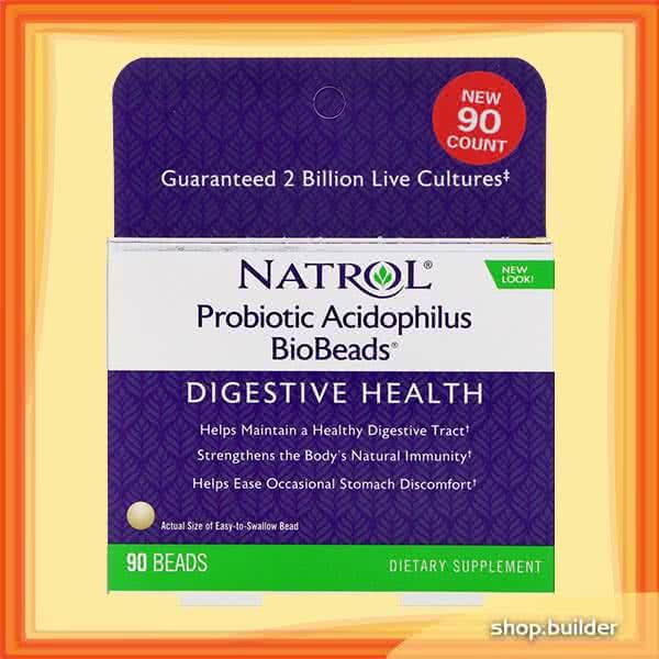 Natrol Probiotic Acidophilus BioBeads 90 kap.