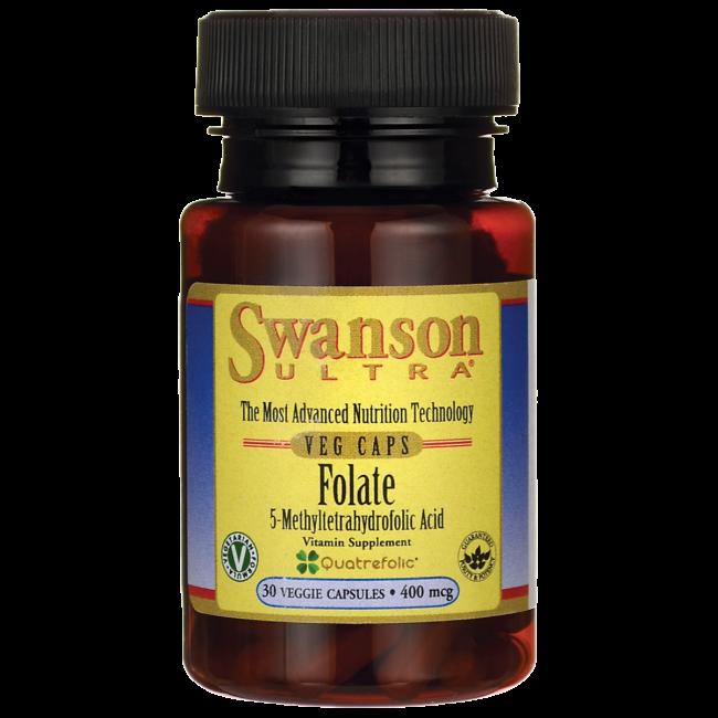 Swanson Folate 400mcg (Swanson Ultra Line) 30 kap.