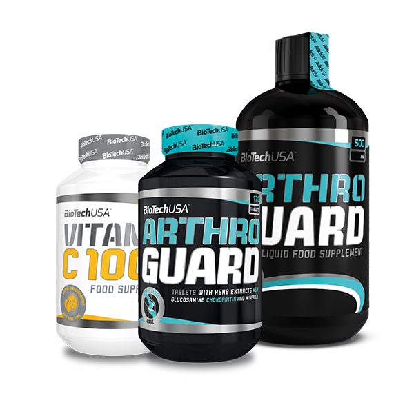 BioTech USA Arthro Guard + Arthro Guard Liquid + Vitamin C 1000 Bioflavonoids set