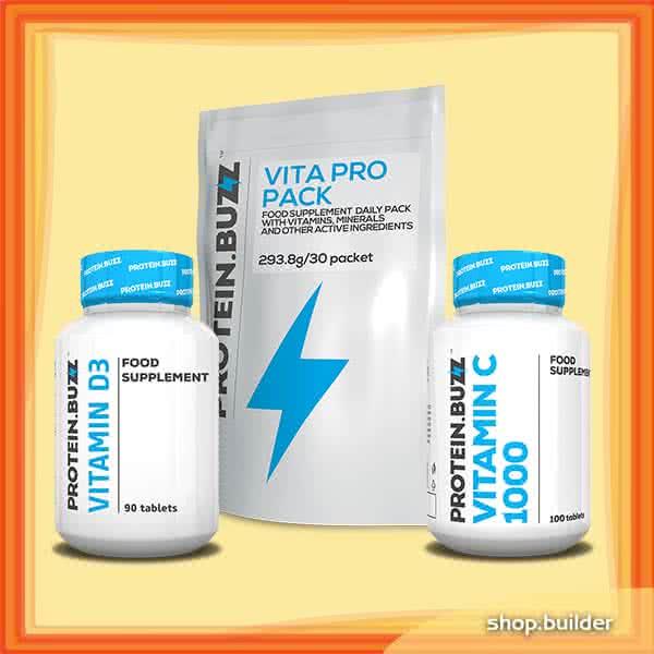 Protein Buzz Buzz zimski paket vitamina set