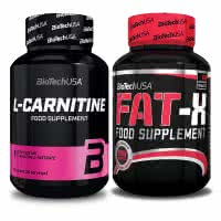 BioTech USA L-Carnitine + Fat-X (set)