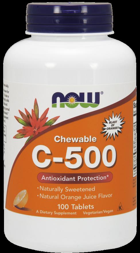 Now Foods C-500 Chewable Tablets 100 žvakaćih tableta