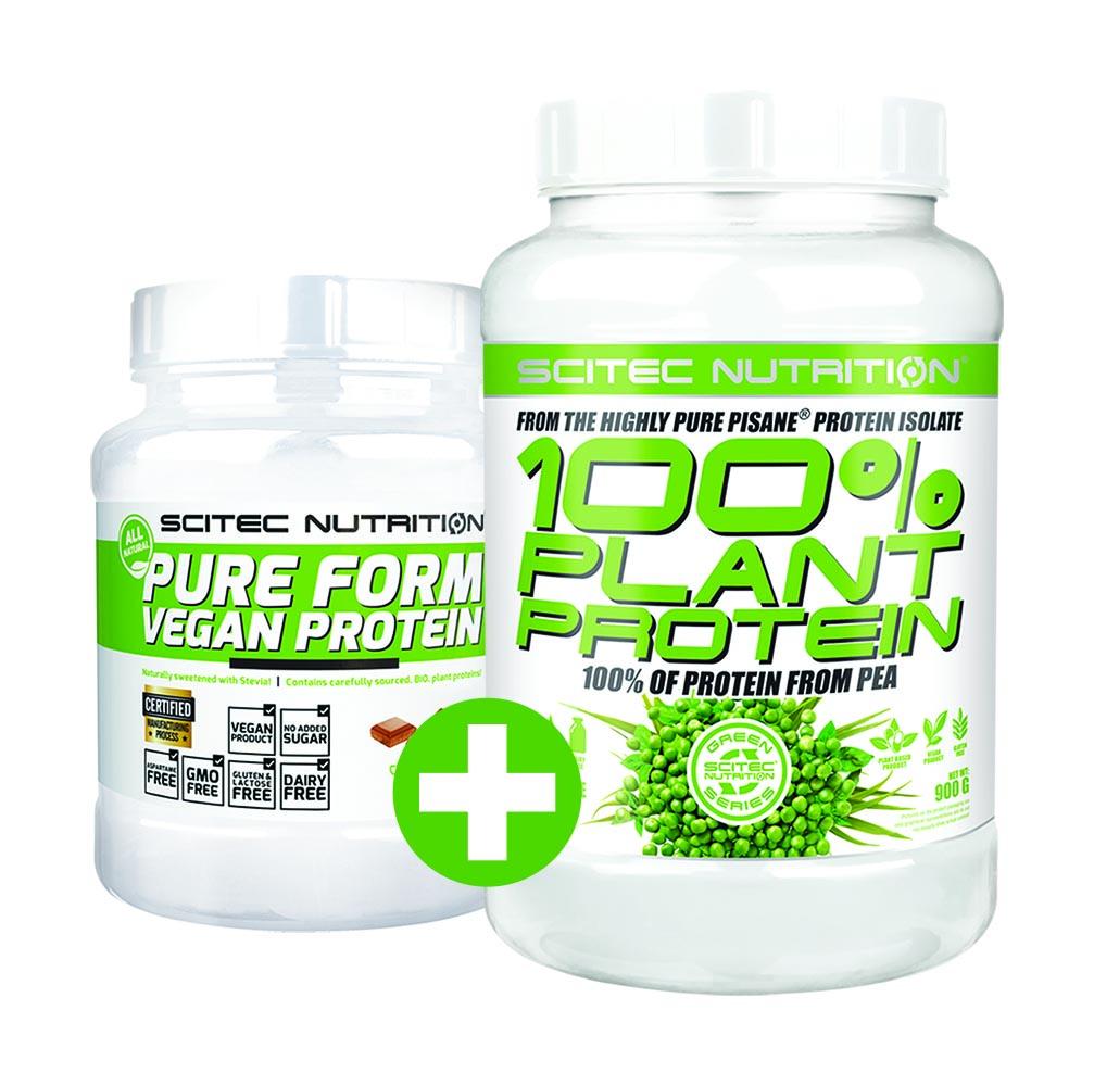 Scitec Nutrition 100% Plant Protein + Pure Form Vegan Protein set