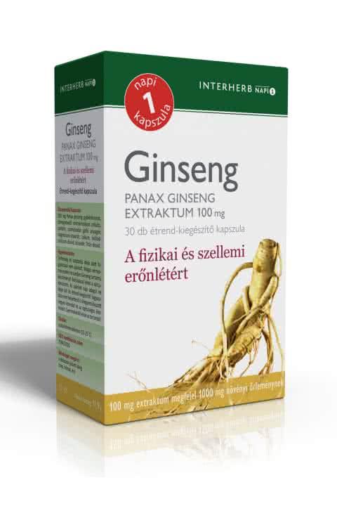 Interherb Panax Ginseng extract 30 kap.