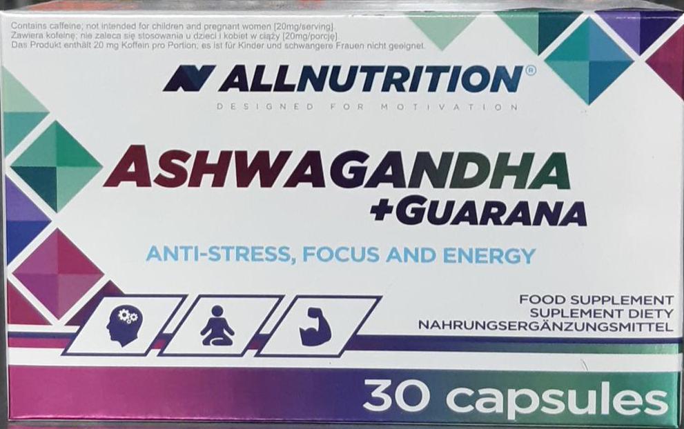 AllNutrition Ashwagandha + Guarana 30 kap.