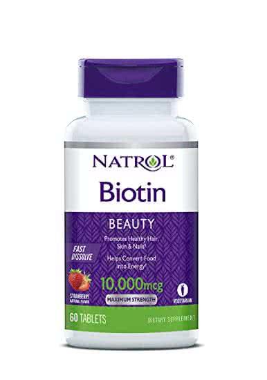 Natrol Biotin Fast Dissolve 60 žvakaćih tableta