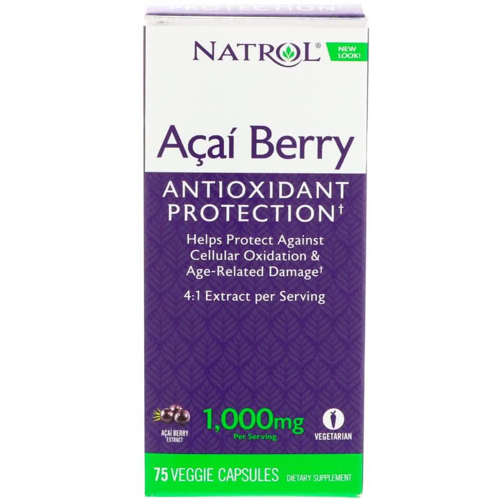 Natrol Acai Berry (1000 mg) 75 kap.