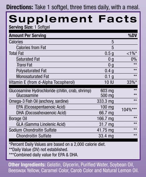 Natrol Glucosamine Omega-3 90 g.k.