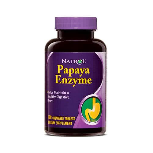 Natrol Papaya Enzyme 100 žvakaćih tableta