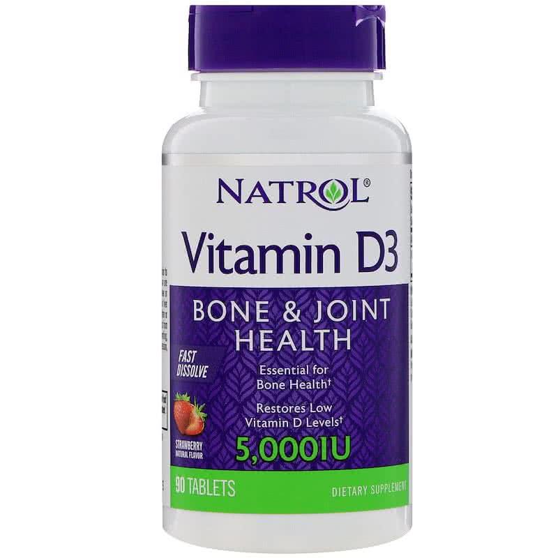 Natrol Vitamin D-3 Fast Dissolve 90 tab.