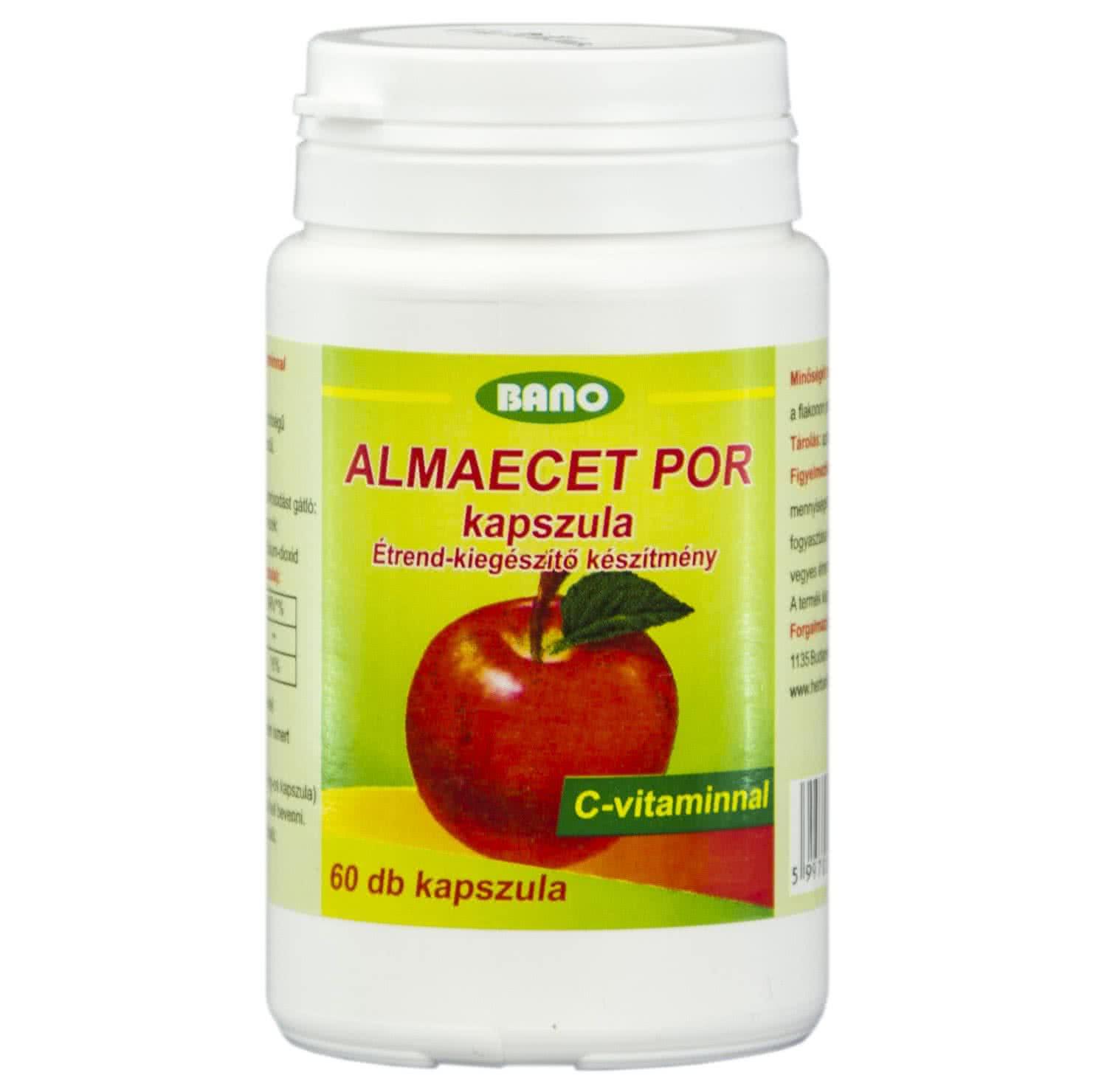 Bano Apple Cider Vinegar Caps 60 kap.
