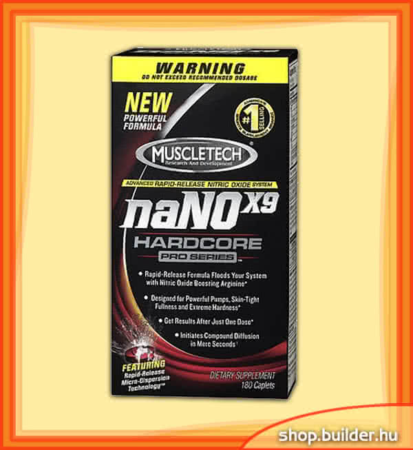 MuscleTech naNOx9 Hardcore Pro Series 180 kap.