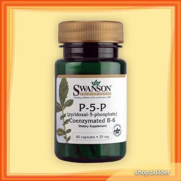 Swanson Vitamin B6 (P-5-P) 60 kap.
