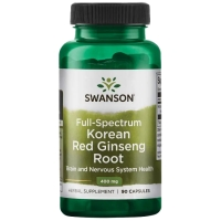 Swanson Korean Red Ginseng Root (90 kap.)