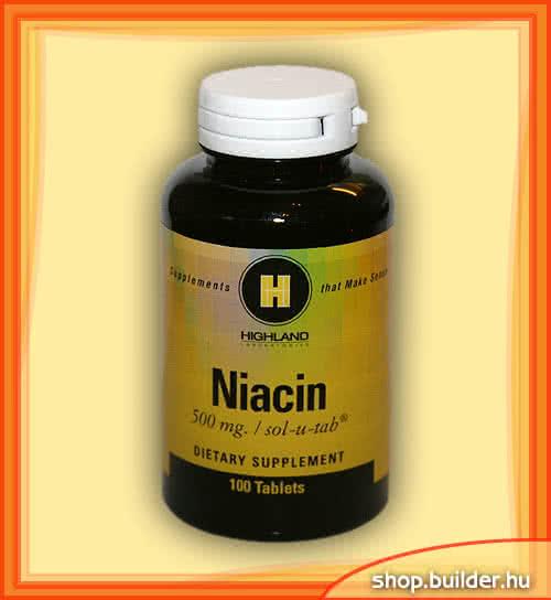 Highland Niacin 100 tab.