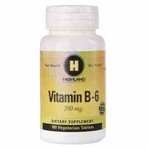 Highland Vitamin B6 100 kap.