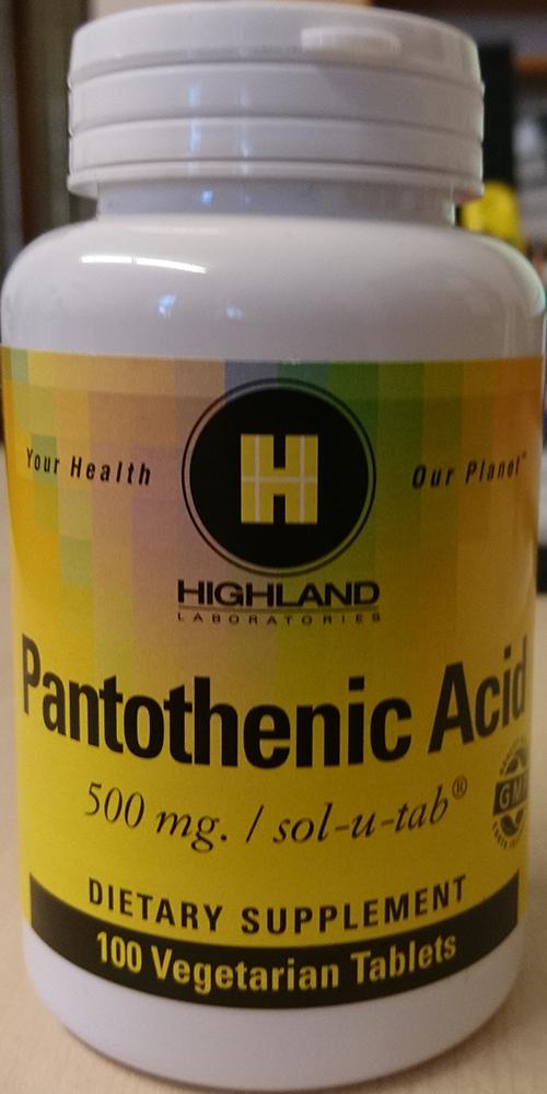 Highland Pantothenic Acid 100 tab.
