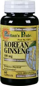 Puritan`s Pride Korean Ginseng 60 kap.