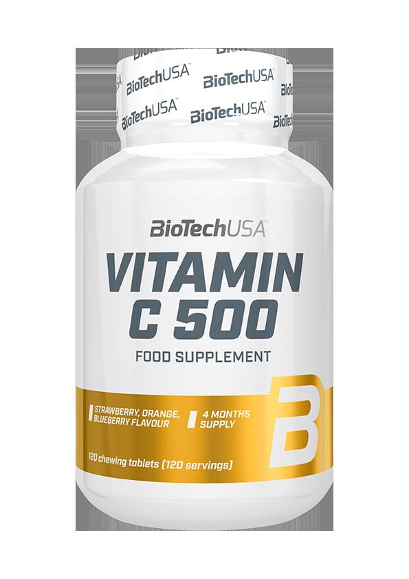 BioTech USA Vitamin C-500 žvakaće tablete 120 žvakaćih tableta