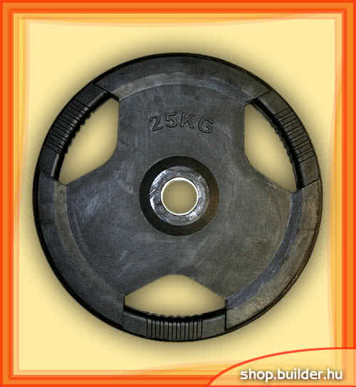 Ostala sportska oprema Rubber plate with grip 50mm 25 kg