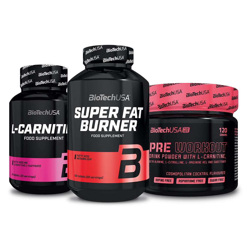 BioTech USA Super Fat Burner+L-Carnitine 1000+Pre Workout for Her set